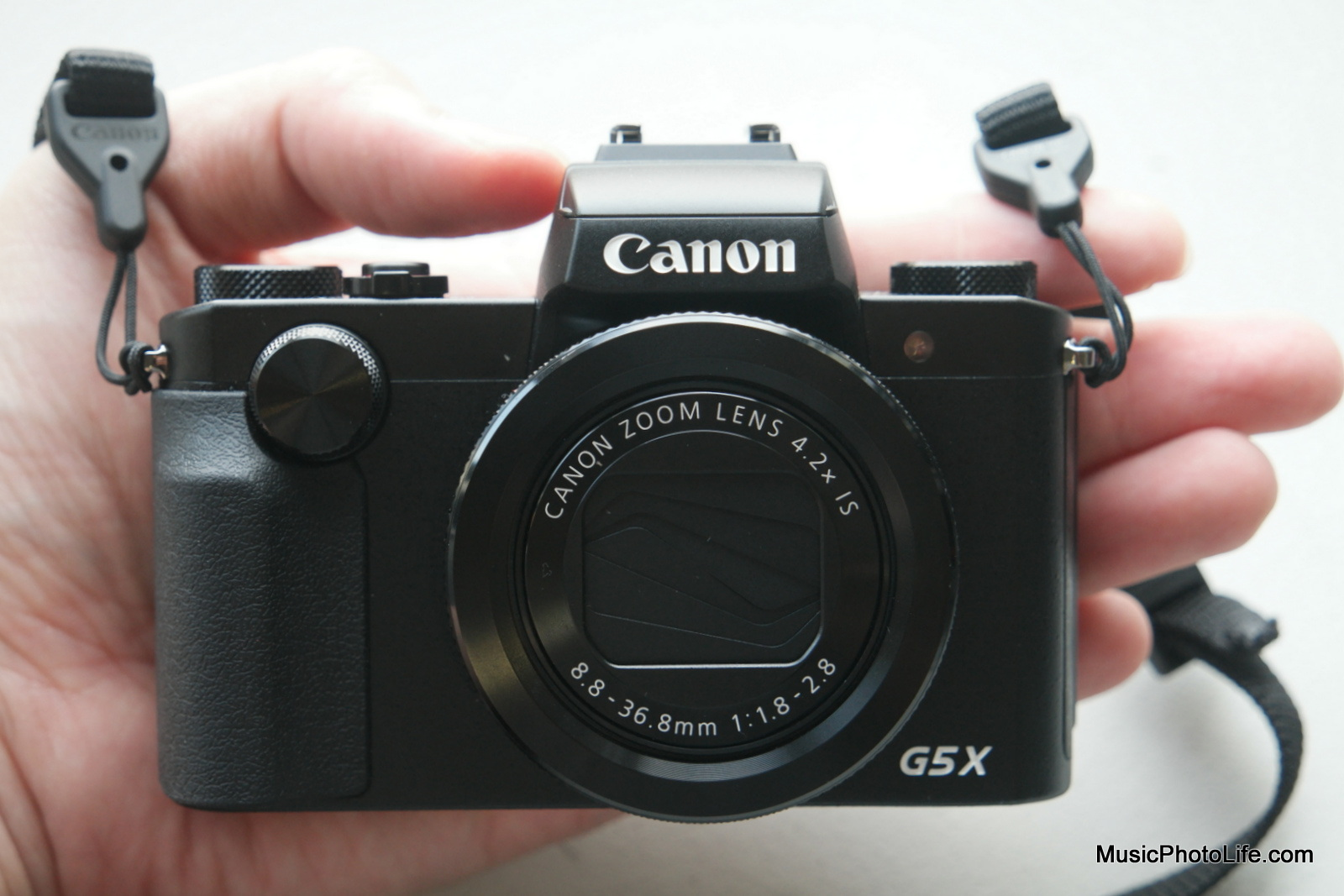 Canon G5X on my hand