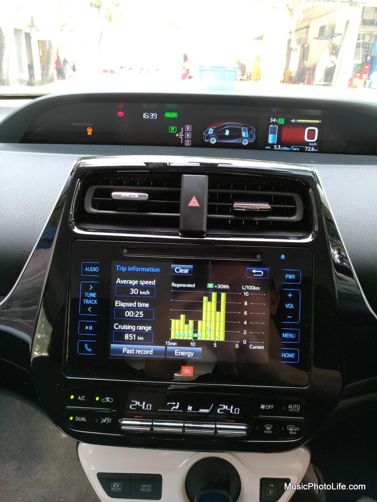 Toyota Prius 2016 multi-information display