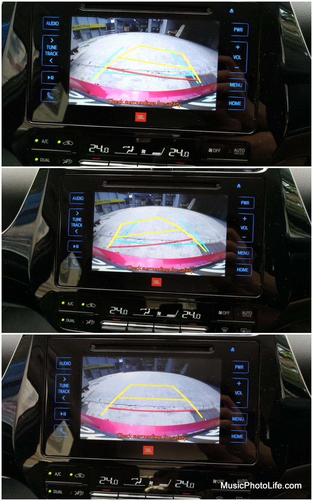 Toyota Prius 2016 reverse camera dynamic guideline