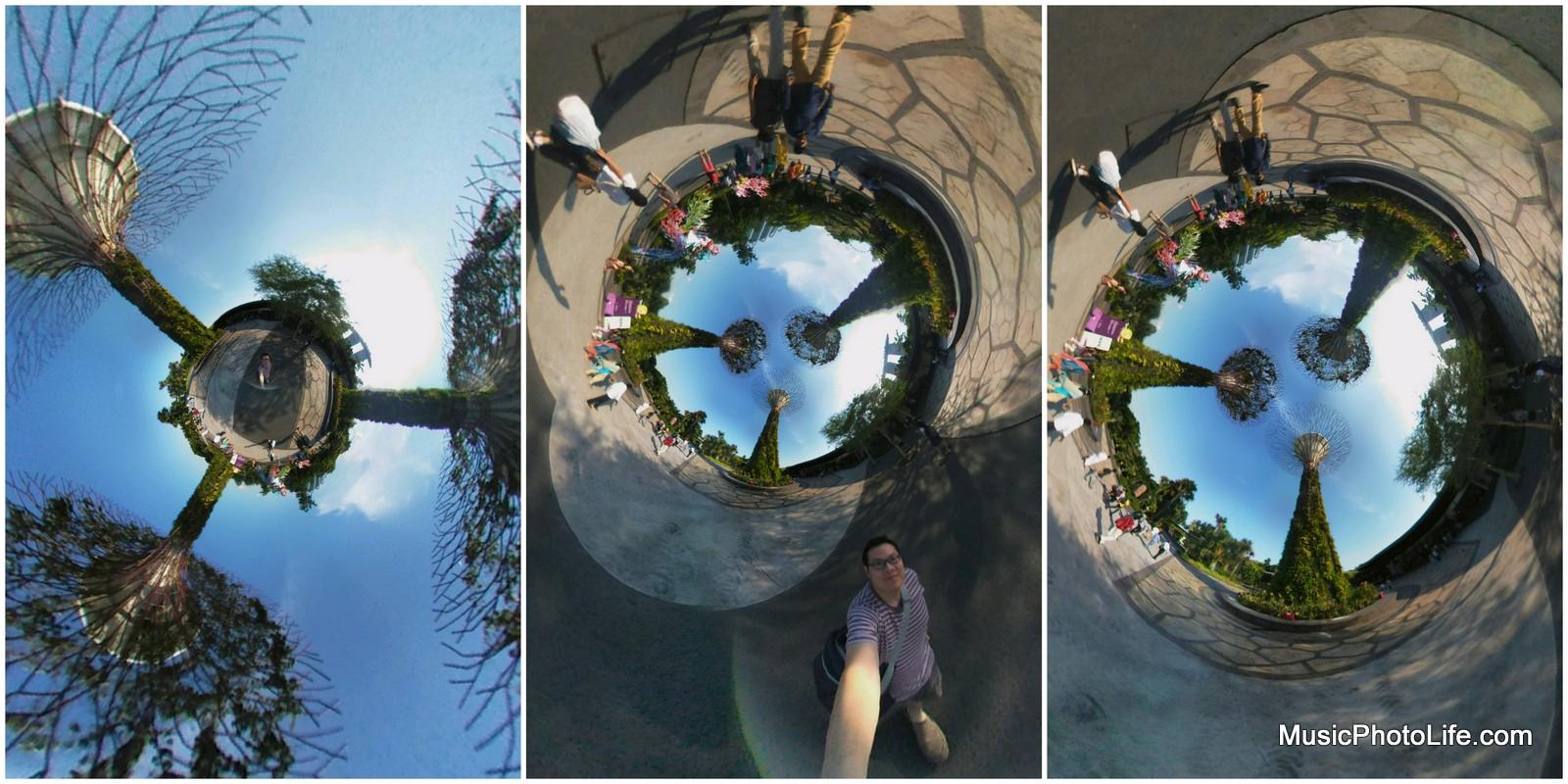 Creating many views of the same 360 photo
