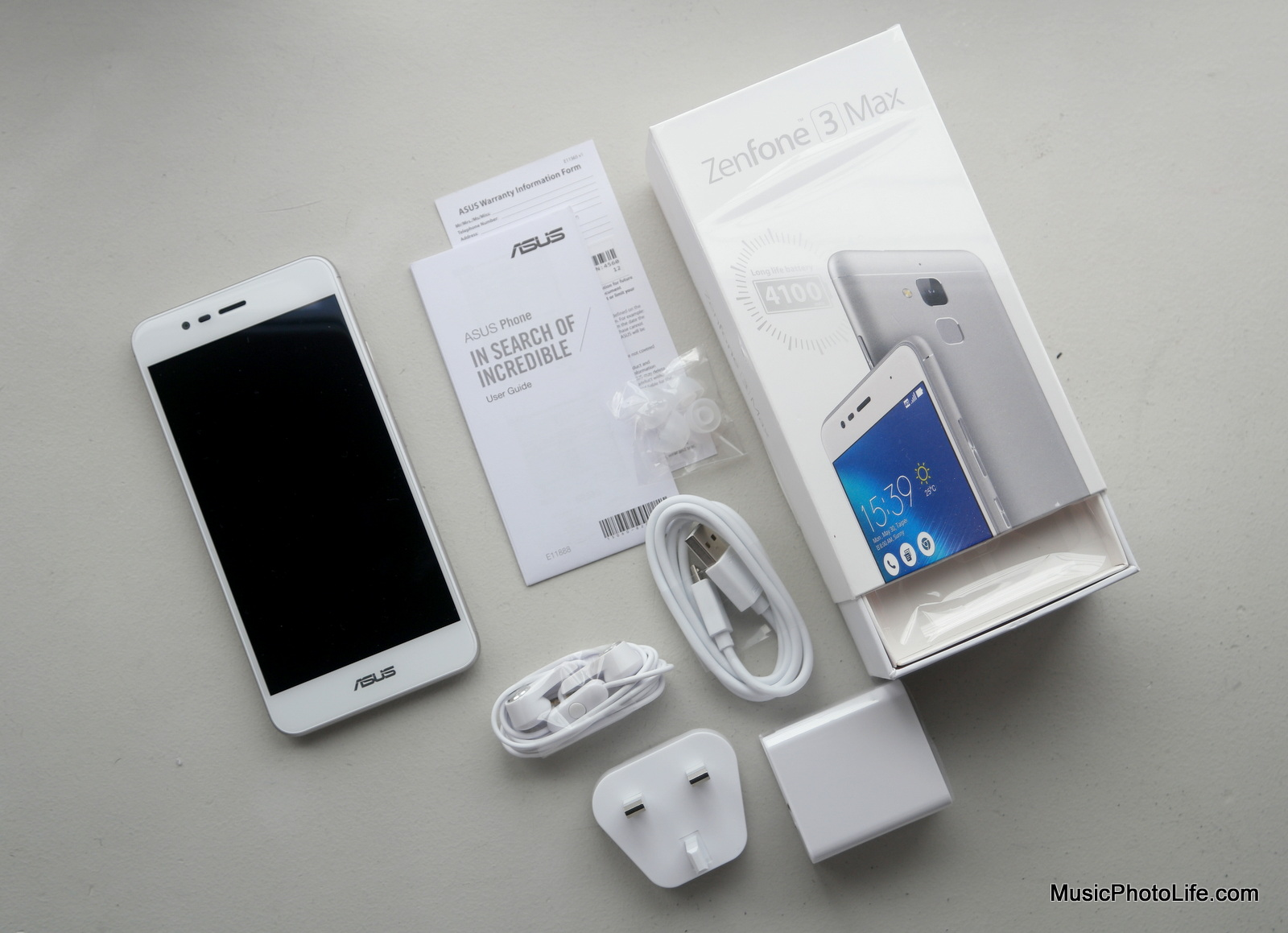 ASUS Zenfone 3 Max unboxing review by musicphotolife.com