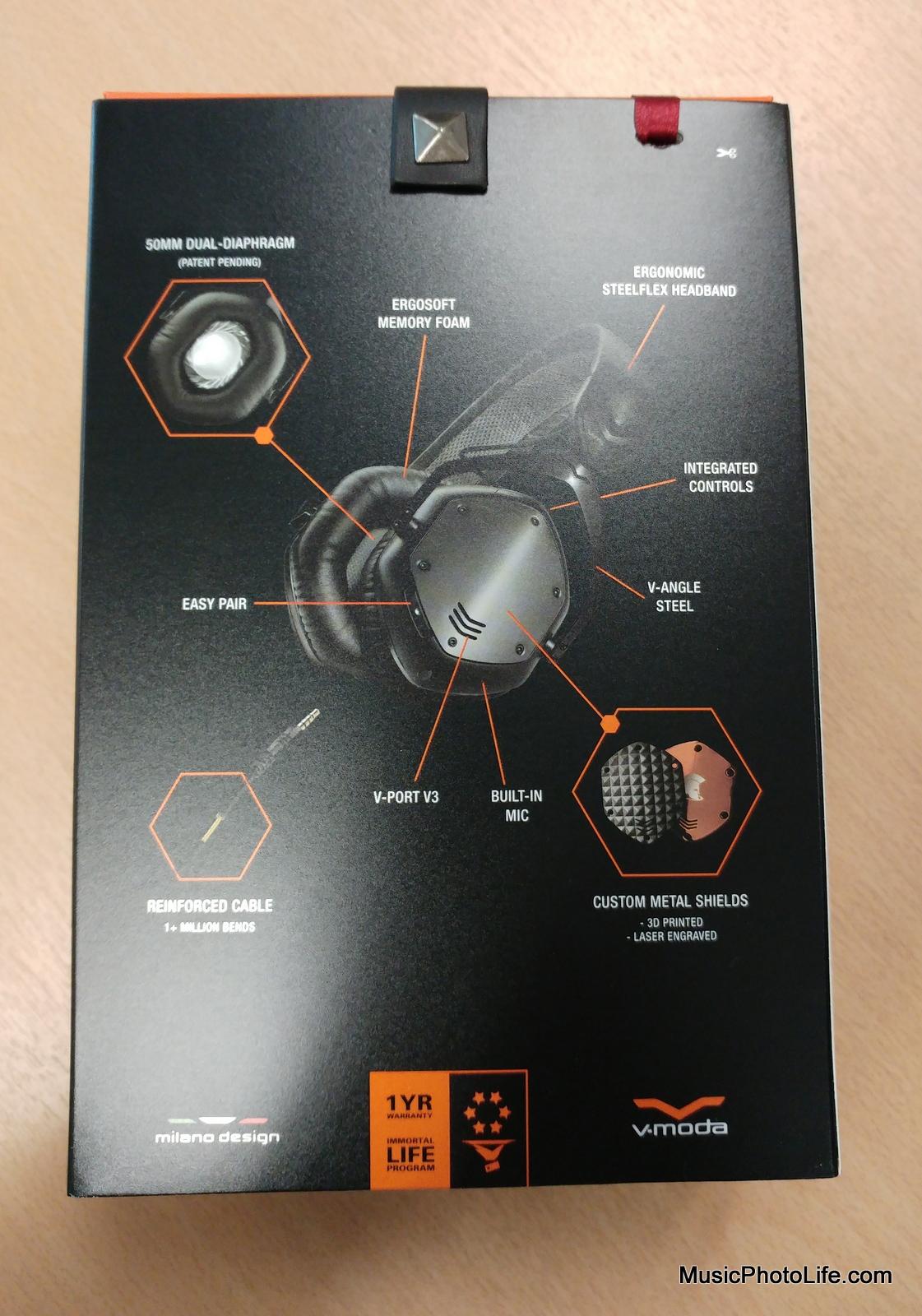 V-MODA Crossfade Wireless rear box