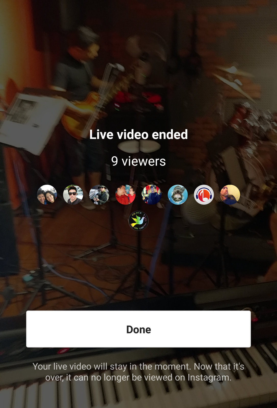 Instagram Stories Live is gone after it's ended