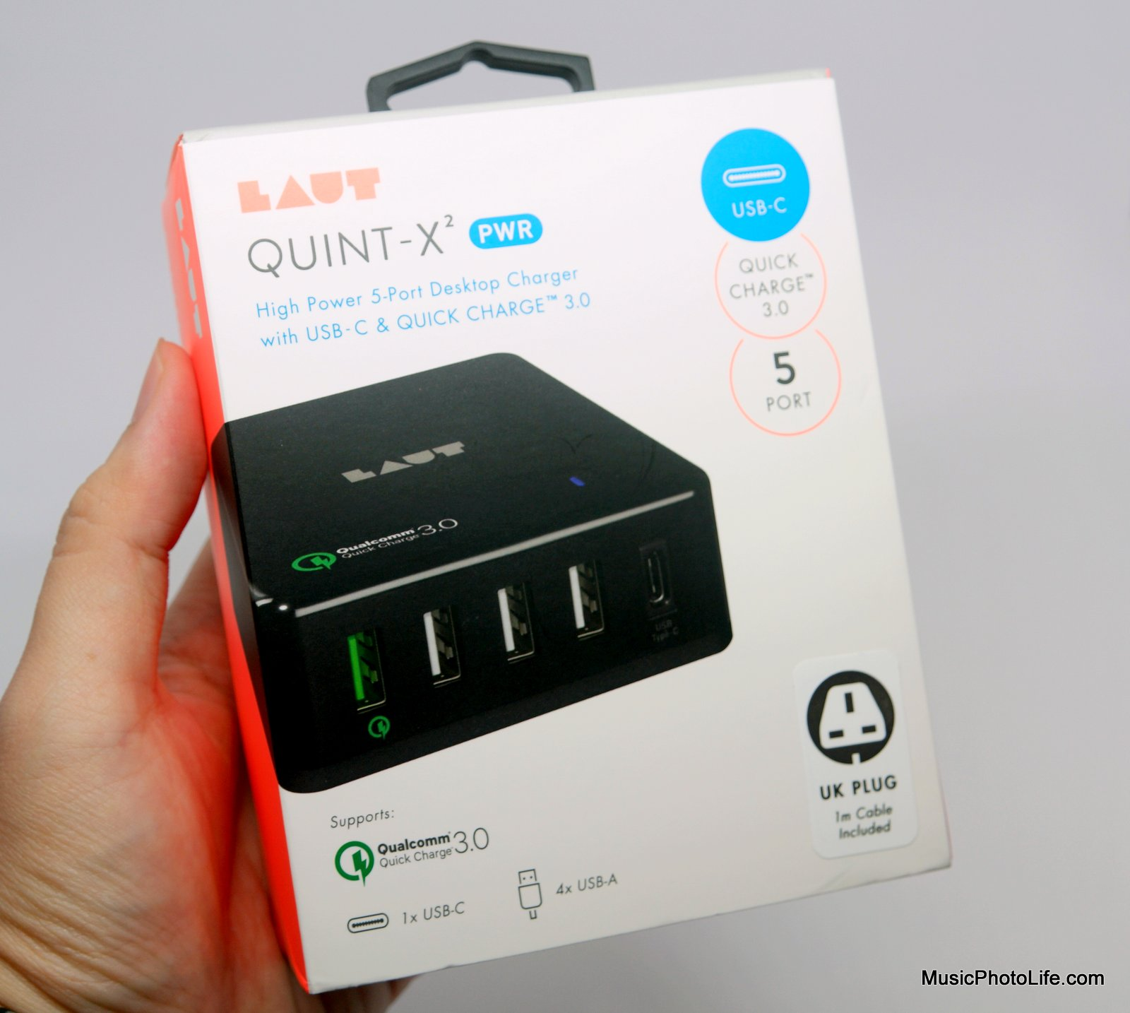 LAUT QUINT-X2 USB charger review by musicphotolife.com