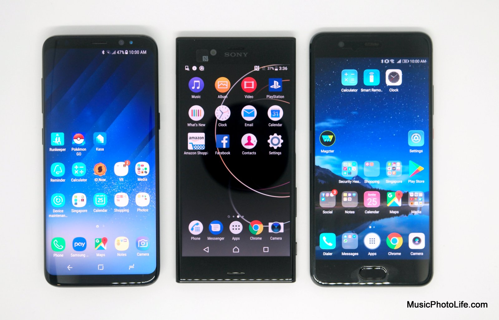 Flagship Smartphones Compared: Huawei P10 Plus, LG G6 ...