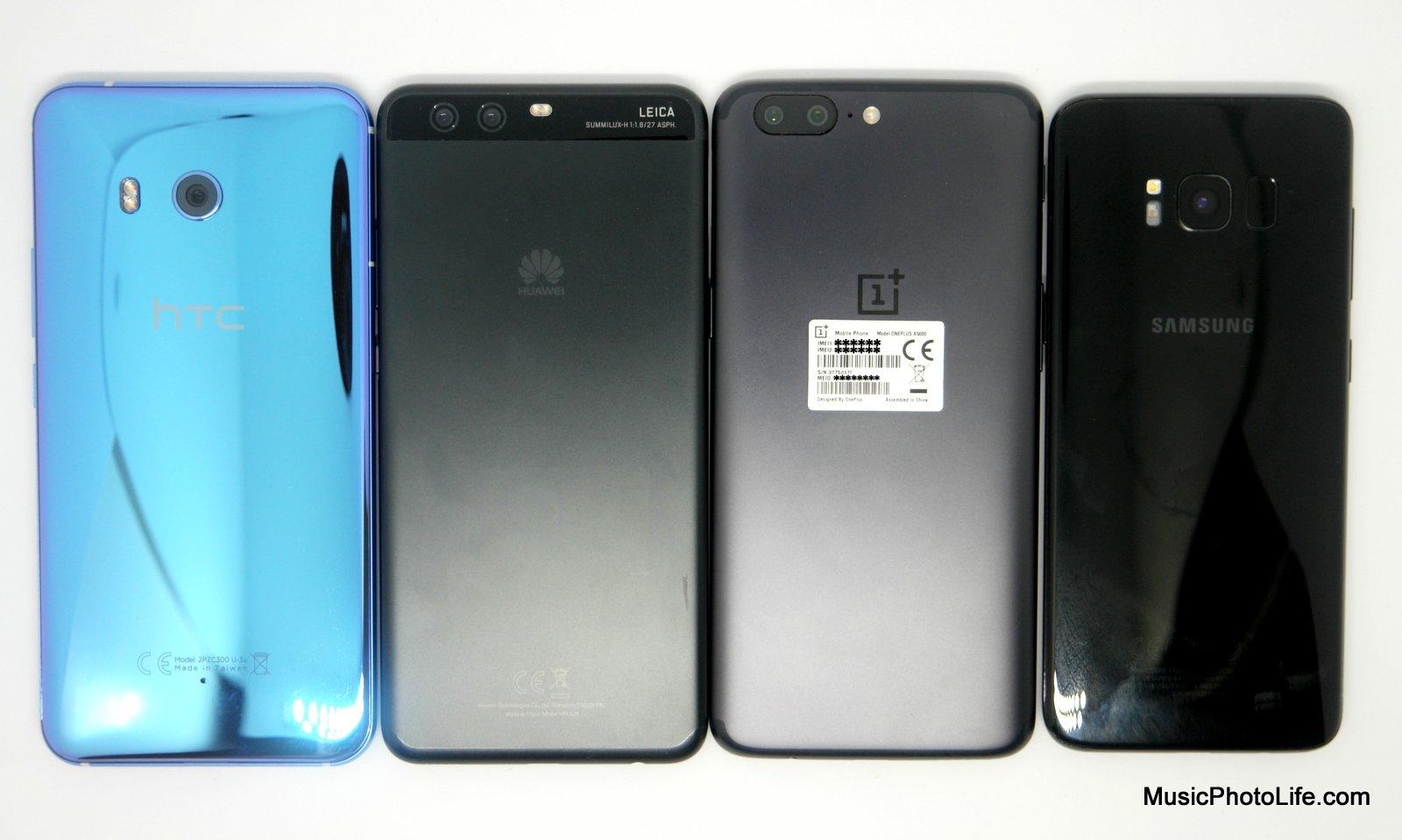 HTC U11, OnePlus 5, Huawei P10 Plus, Samsung Galaxy S8