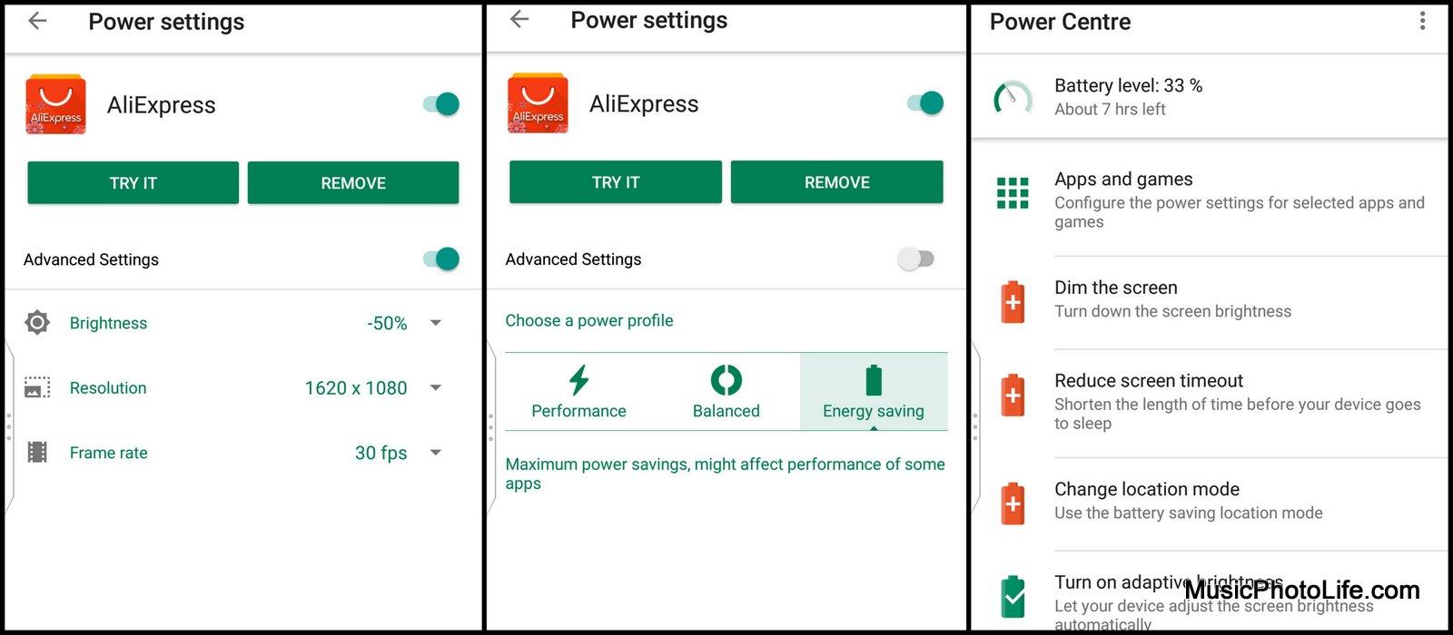 BlackBerry KEYone Black Edition - Power Centre screenshot