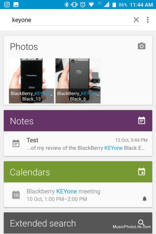 BlackBerry KEYone Black Edition - Device Search screenshot