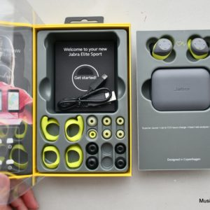 Jabra Elite Sport true wireless sports earphones unboxing