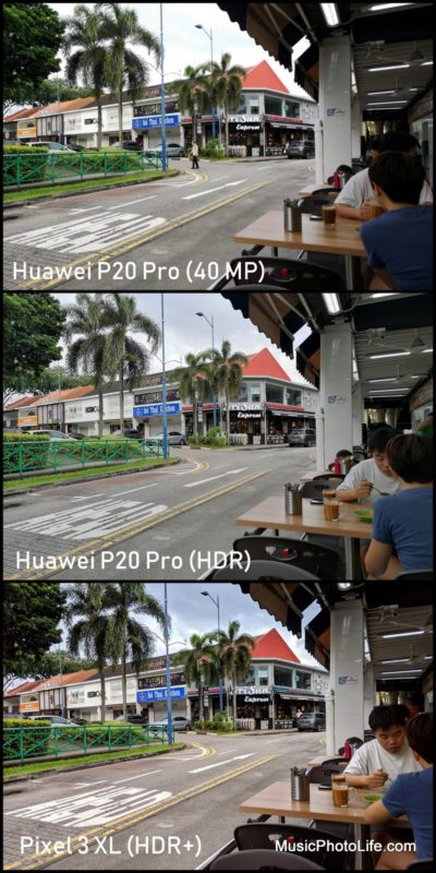 Compare Google Pixel 3 XL HDR+ with Huawei P20 Pro