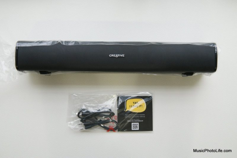 Creative Stage Air portable soundbar reivew by musicphotolife.com, Singapore consumer product tech blog
