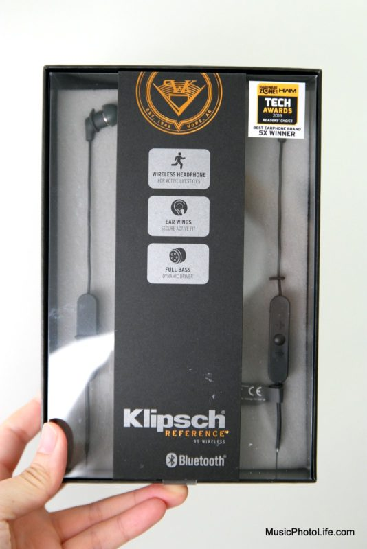 Klipsch R5 Wireless In-Ear Headphones review by musicphotolife.com, Singapore consumer audio product blogger