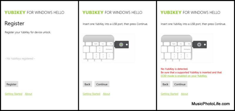 YubiKey on Windows Hello