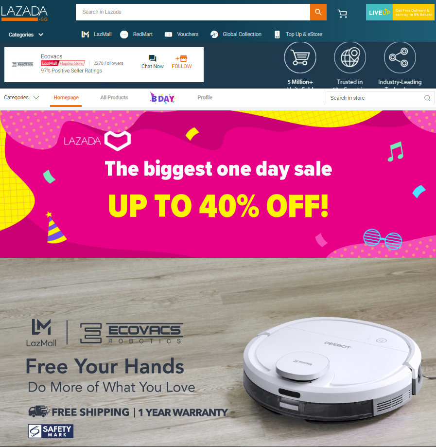 ECOVACS Lazada Birthday Sale 2019