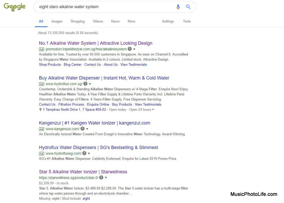 Eight Stars Alkaline Water System Google
