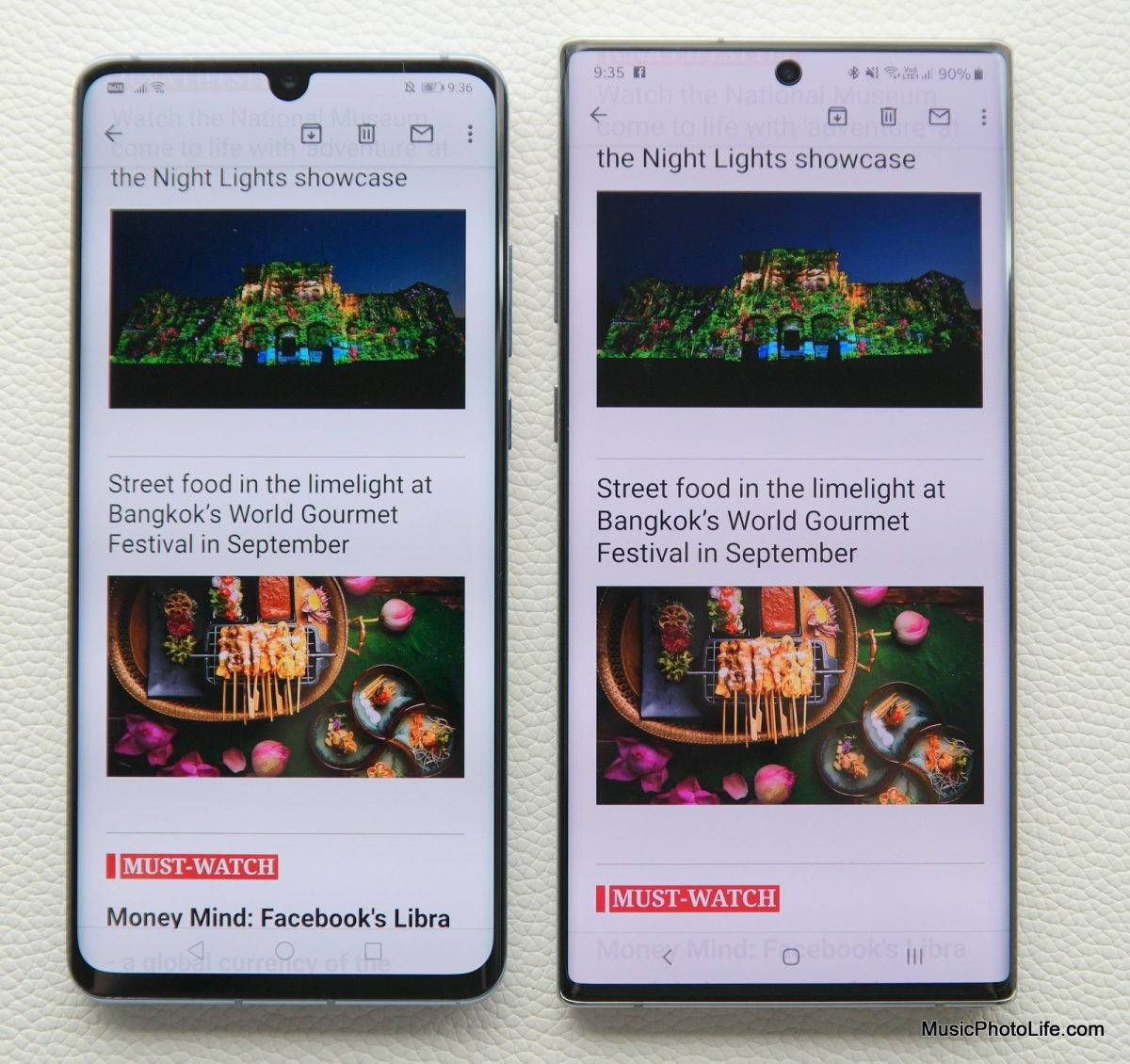 Samsung Galaxy Note10+ compares to Huawei P30 Pro