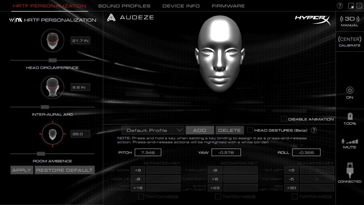 HyperX Cloud Orbit PC software