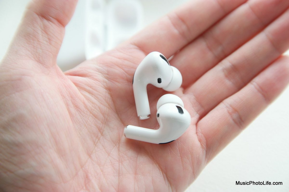 Apple AirPods Pro on hand