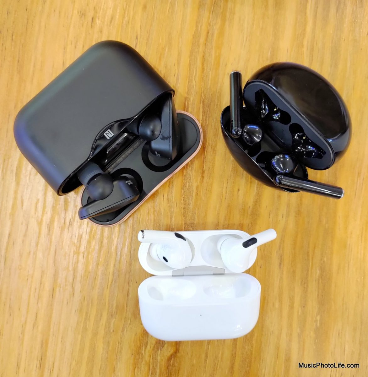 AirPods Pro with Huawei Freebuds 3 and Sony WF-1000XM3