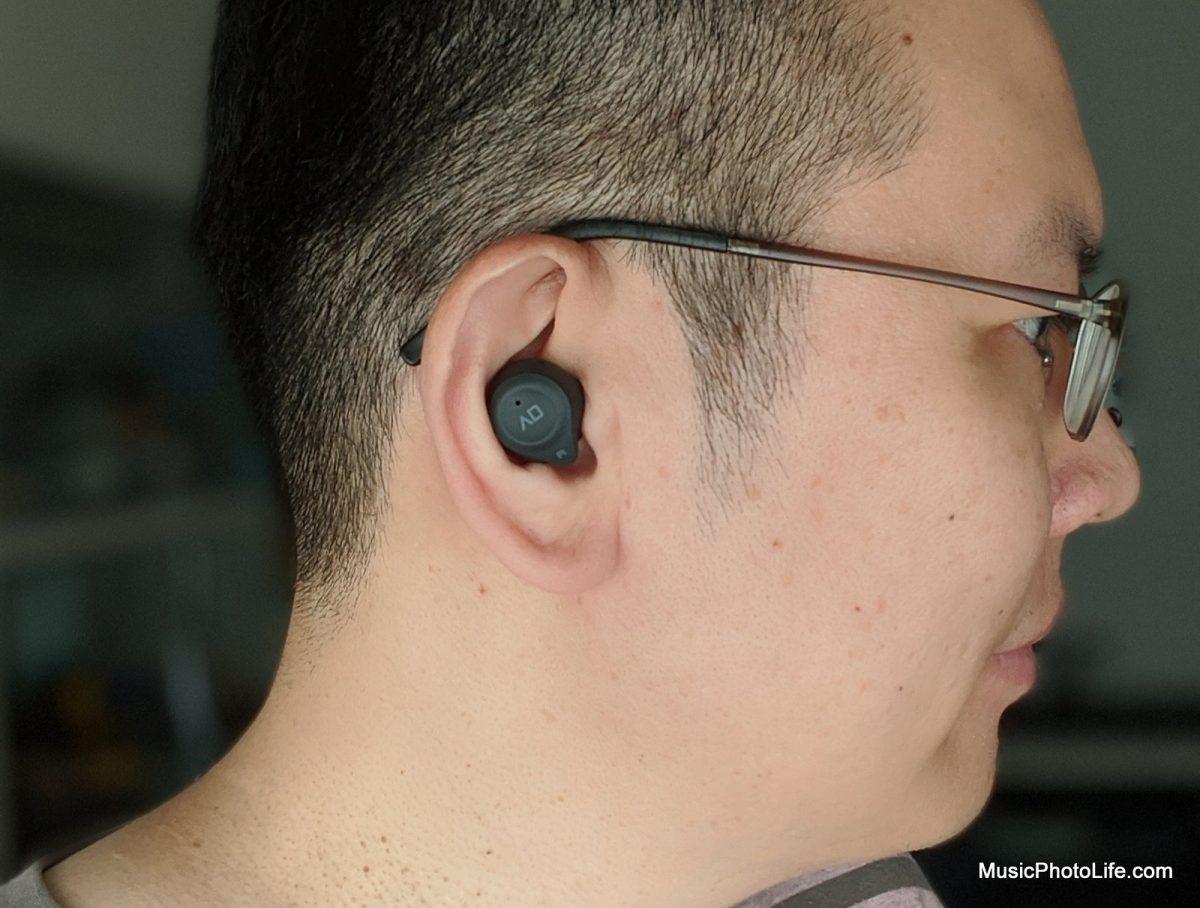Alpha & Delta Elite True Wireless Earphones fit on ears