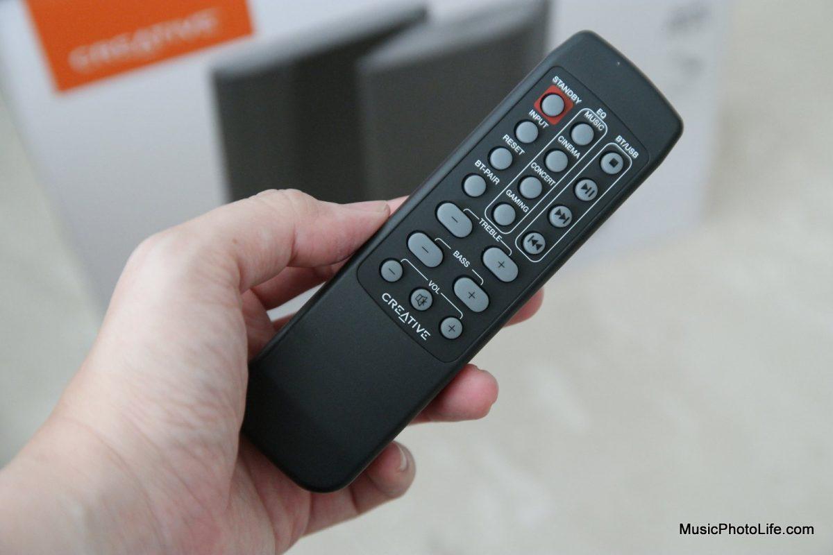 Creative T100 2.0 Speakers remote control
