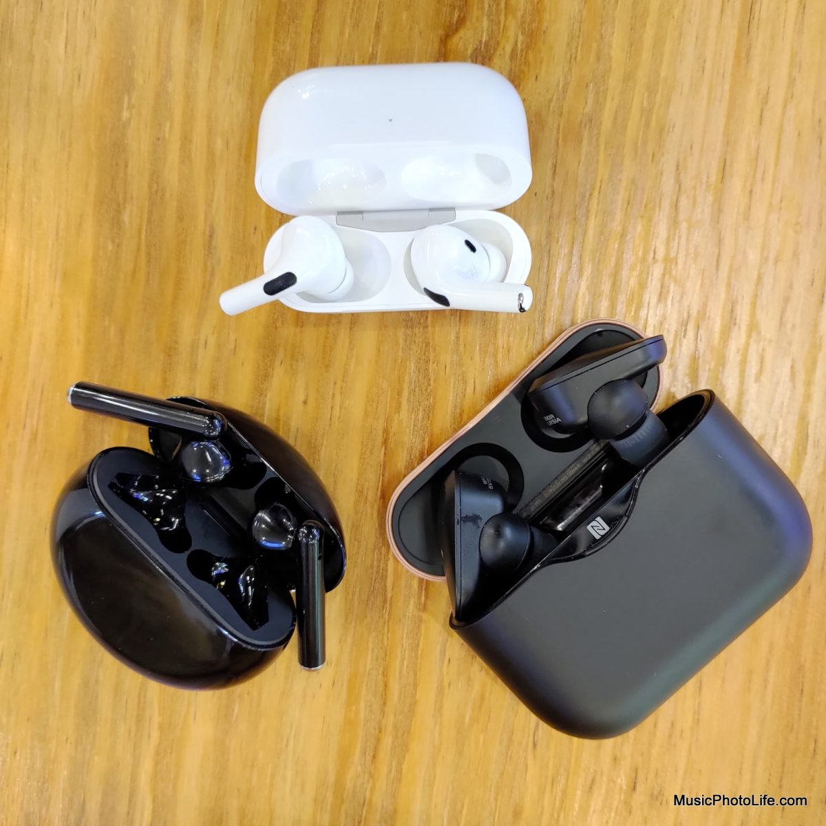 Huawei Freebuds 3 with AirPods Pro and Sony WF-1000XM3
