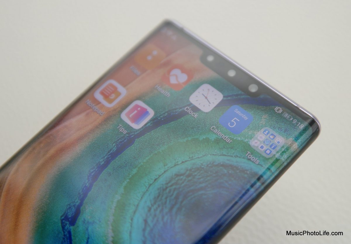 Huawei Mate 30 Pro front camera notch