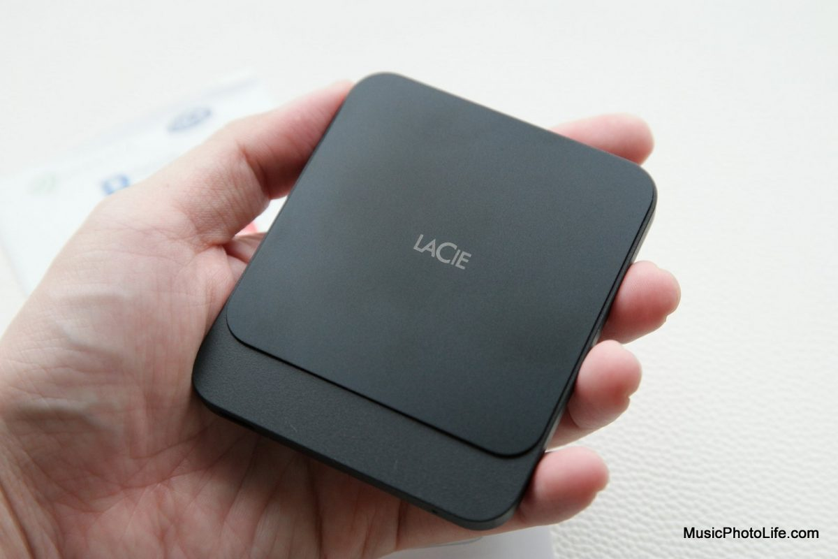 LaCie Portable SSD on hand