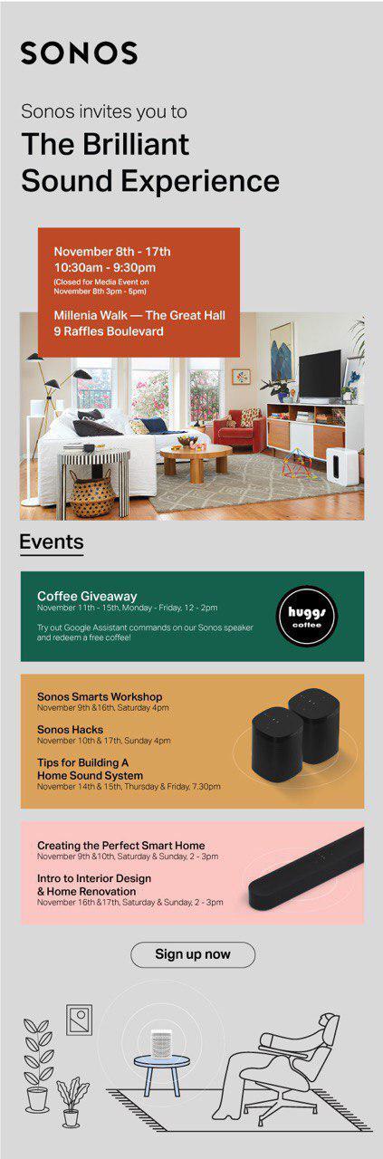 Sonos Google Assistant pop-up event 8 to 17 November 2019
