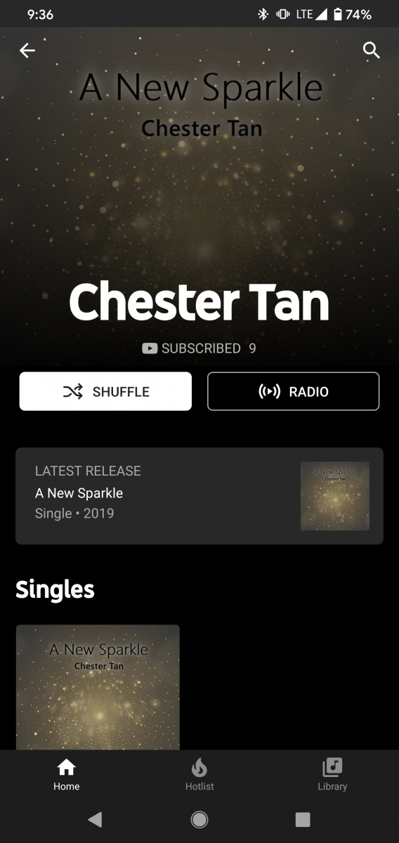 YouTube Music launches in Singapore - Chester Tan artist