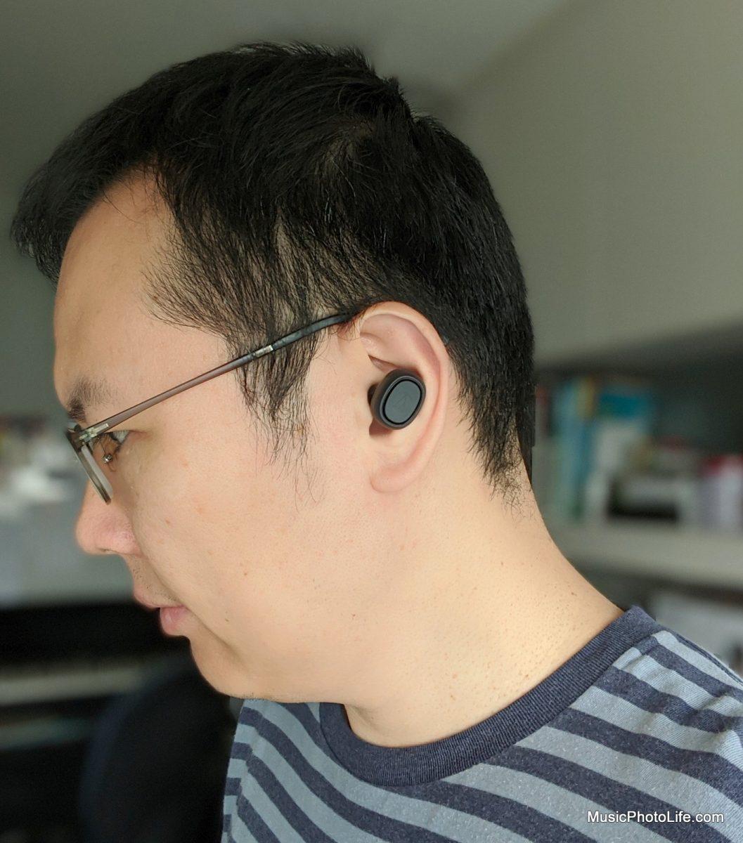 Audio-Technica ATH-CK3TW wearing in ears