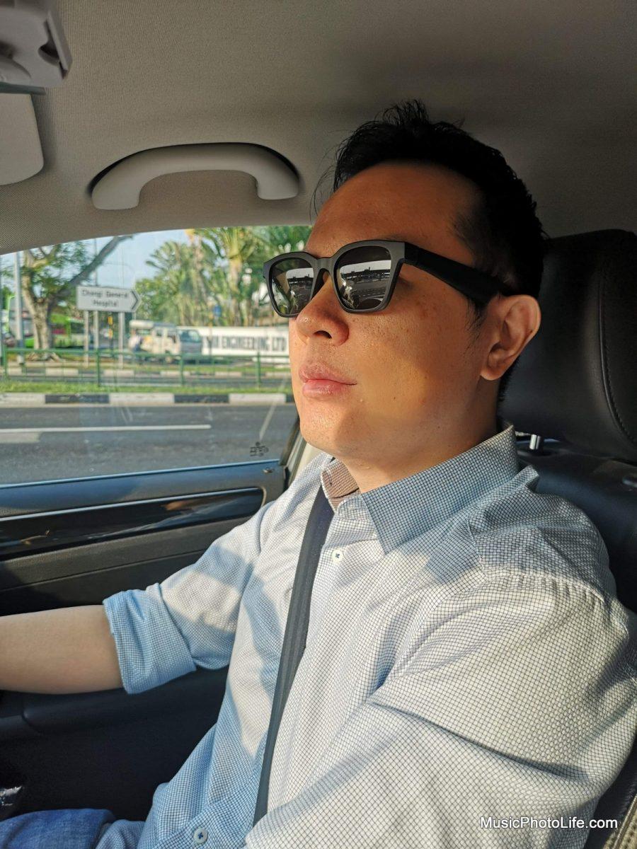 Bose Frames Alto wearing when driving