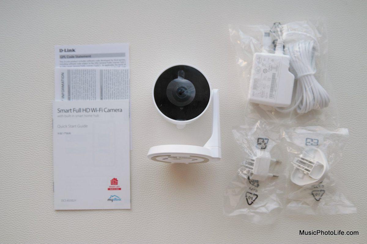 D-Link DCS-8330LH Smart AI WiFi Camera unboxing by musicphotolife.com Singapore tech blog