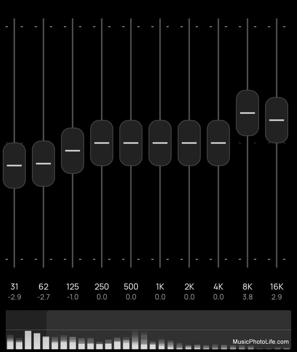 SOUNDPEATS Truengine2 EQ adjustment on Poweramp