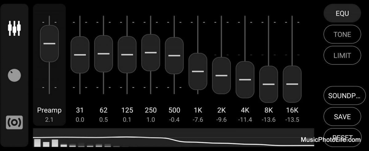 Soundpeats Truebuds custom EQ preferred by musicphotolife.com